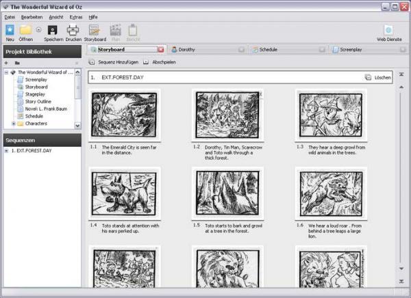 plans au sol et logiciels Storyboard