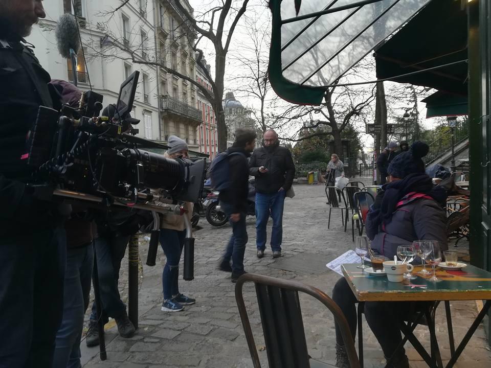 Damien partage sa journée sur le tournage de Nicolas Chick