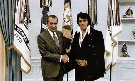 Elvis & Nixon, the first photo !
