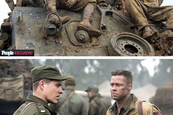 FURY : the first photos of the Brad Pitt movie
