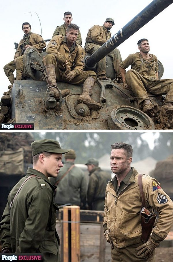 FURY : the first photos of the Brad Pitt movie