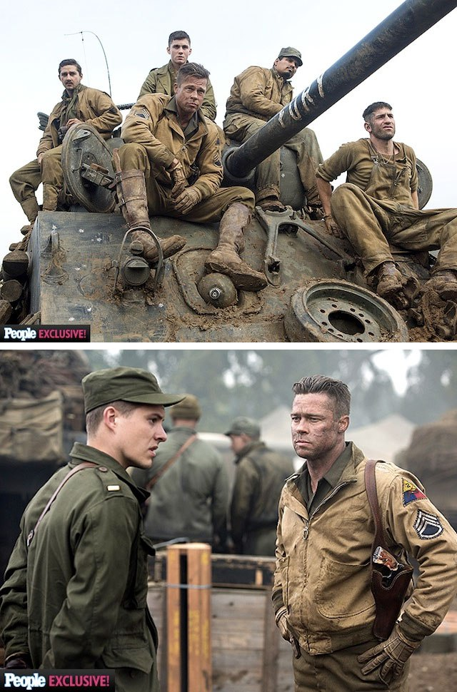 FURY : les premières photos du film avec Brad Pitt