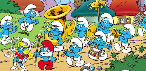 The Smurfs, the movie : The blue characters on the big screen and in 3D !