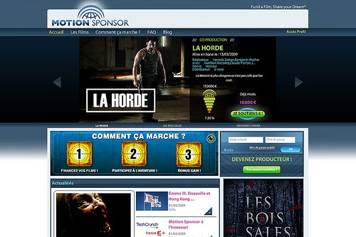 Motion Sponsor : a site that makes you movie producers !